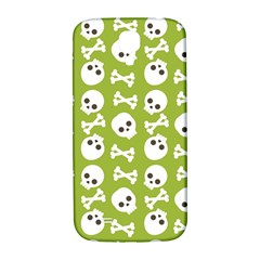 Skull Bone Mask Face White Green Samsung Galaxy S4 I9500/I9505  Hardshell Back Case