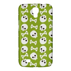 Skull Bone Mask Face White Green Samsung Galaxy Mega 6.3  I9200 Hardshell Case