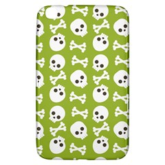 Skull Bone Mask Face White Green Samsung Galaxy Tab 3 (8 ) T3100 Hardshell Case