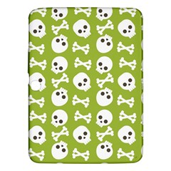 Skull Bone Mask Face White Green Samsung Galaxy Tab 3 (10.1 ) P5200 Hardshell Case