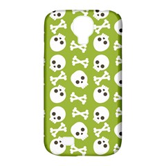 Skull Bone Mask Face White Green Samsung Galaxy S4 Classic Hardshell Case (PC+Silicone)