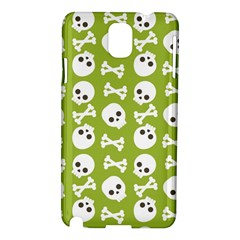 Skull Bone Mask Face White Green Samsung Galaxy Note 3 N9005 Hardshell Case