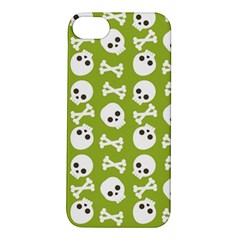 Skull Bone Mask Face White Green Apple iPhone 5S/ SE Hardshell Case
