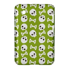 Skull Bone Mask Face White Green Samsung Galaxy Tab 2 (7 ) P3100 Hardshell Case