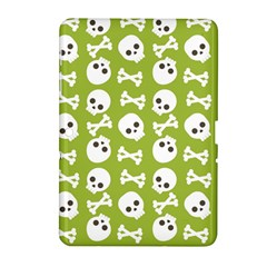 Skull Bone Mask Face White Green Samsung Galaxy Tab 2 (10.1 ) P5100 Hardshell Case