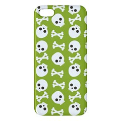 Skull Bone Mask Face White Green iPhone 5S/ SE Premium Hardshell Case
