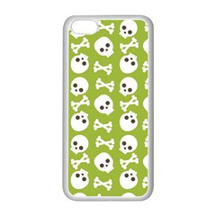 Skull Bone Mask Face White Green Apple iPhone 5C Seamless Case (White)