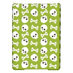 Skull Bone Mask Face White Green iPad Air Hardshell Cases