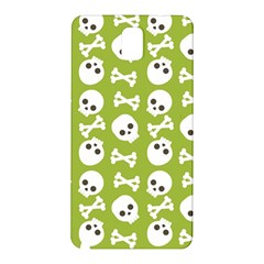 Skull Bone Mask Face White Green Samsung Galaxy Note 3 N9005 Hardshell Back Case