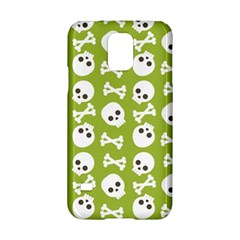 Skull Bone Mask Face White Green Samsung Galaxy S5 Hardshell Case
