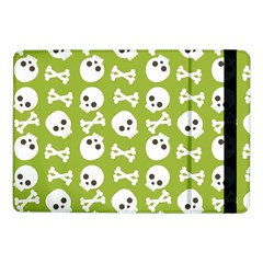 Skull Bone Mask Face White Green Samsung Galaxy Tab Pro 10.1  Flip Case
