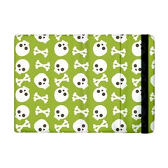 Skull Bone Mask Face White Green iPad Mini 2 Flip Cases