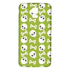 Skull Bone Mask Face White Green Samsung Galaxy S5 Back Case (White)