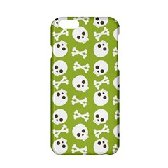 Skull Bone Mask Face White Green Apple iPhone 6/6S Hardshell Case