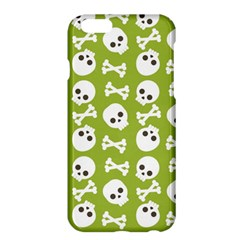 Skull Bone Mask Face White Green Apple Iphone 6 Plus/6s Plus Hardshell Case by Alisyart