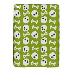 Skull Bone Mask Face White Green iPad Air 2 Hardshell Cases