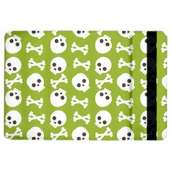Skull Bone Mask Face White Green iPad Air 2 Flip