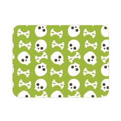 Skull Bone Mask Face White Green Double Sided Flano Blanket (Mini)