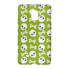 Skull Bone Mask Face White Green Galaxy Note Edge