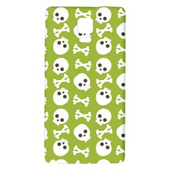 Skull Bone Mask Face White Green Galaxy Note 4 Back Case