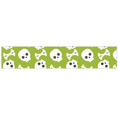Skull Bone Mask Face White Green Large Flano Scarf
