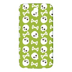 Skull Bone Mask Face White Green Samsung Galaxy Mega I9200 Hardshell Back Case
