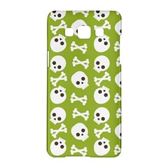 Skull Bone Mask Face White Green Samsung Galaxy A5 Hardshell Case