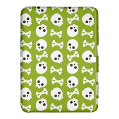 Skull Bone Mask Face White Green Samsung Galaxy Tab 4 (10.1 ) Hardshell Case