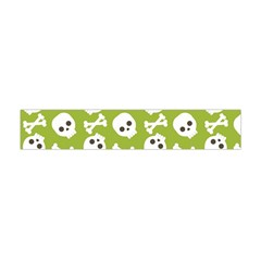 Skull Bone Mask Face White Green Flano Scarf (Mini)