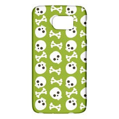 Skull Bone Mask Face White Green Galaxy S6