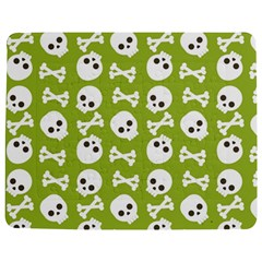 Skull Bone Mask Face White Green Jigsaw Puzzle Photo Stand (Rectangular)
