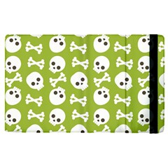 Skull Bone Mask Face White Green Apple iPad Pro 12.9   Flip Case