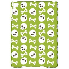 Skull Bone Mask Face White Green Apple iPad Pro 9.7   Hardshell Case