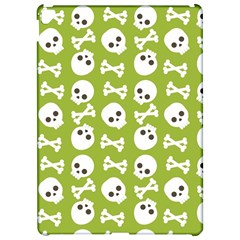 Skull Bone Mask Face White Green Apple iPad Pro 12.9   Hardshell Case