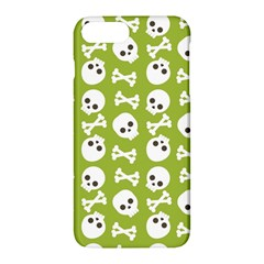 Skull Bone Mask Face White Green Apple iPhone 7 Plus Hardshell Case