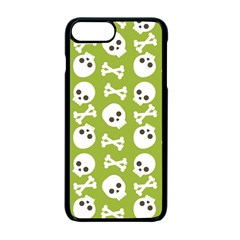 Skull Bone Mask Face White Green Apple iPhone 7 Plus Seamless Case (Black)