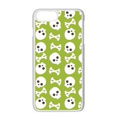 Skull Bone Mask Face White Green Apple iPhone 7 Plus Seamless Case (White)