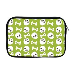 Skull Bone Mask Face White Green Apple MacBook Pro 17  Zipper Case