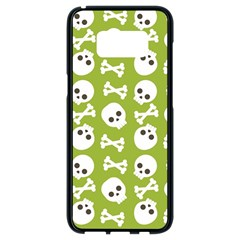 Skull Bone Mask Face White Green Samsung Galaxy S8 Black Seamless Case