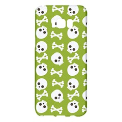 Skull Bone Mask Face White Green Samsung Galaxy S8 Plus Hardshell Case