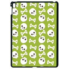 Skull Bone Mask Face White Green Apple iPad Pro 9.7   Black Seamless Case