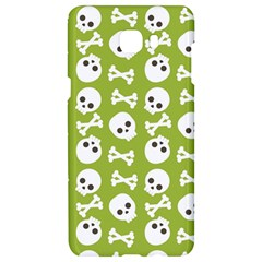 Skull Bone Mask Face White Green Samsung C9 Pro Hardshell Case