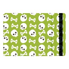 Skull Bone Mask Face White Green Apple iPad Pro 10.5   Flip Case