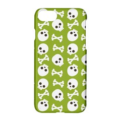 Skull Bone Mask Face White Green Apple iPhone 8 Hardshell Case