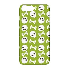 Skull Bone Mask Face White Green Apple iPhone 8 Plus Hardshell Case