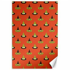 Hat Wicked Witch Ghost Halloween Red Green Black Canvas 20  X 30   by Alisyart