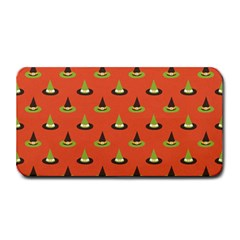 Hat Wicked Witch Ghost Halloween Red Green Black Medium Bar Mats by Alisyart