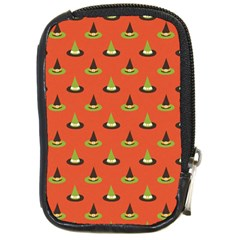 Hat Wicked Witch Ghost Halloween Red Green Black Compact Camera Cases