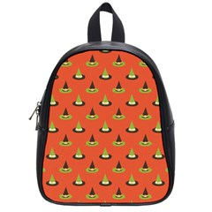 Hat Wicked Witch Ghost Halloween Red Green Black School Bag (small)