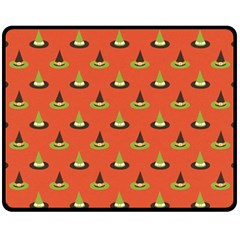 Hat Wicked Witch Ghost Halloween Red Green Black Fleece Blanket (medium)